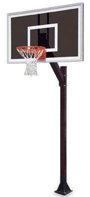 最初チームLegacy eclipse-bp steel-smokedガラスで地面固定高さバスケットボールsystem44 ;スカーレット B01HC0DF5W