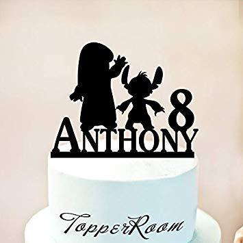 Jeer2 Lilo and Stitch - Decoración para tarta de cumpleaños ...