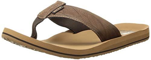 Reef Boys' TWINPIN + Sandal, tan, 7 M US Big Kid