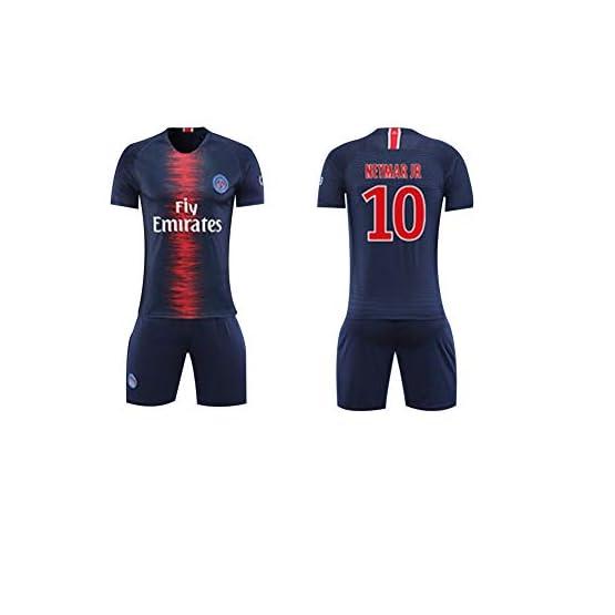 FNBA Paris Neymar JR 10# Maillot et Short de Foot à Domicile pour Enfants/Adolescents, Vêtements de Costume pour Hommes Vêtements de sport-blue-150