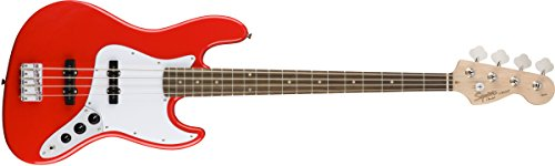 Squier by Fender Affinity Jazz Beginner Electric Bass Guitar - Rosewood Fingerboard, Race - Jazz Fender Tuners Bass