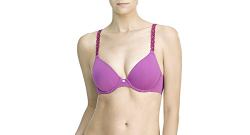 Natori Pure Luxe Bra 732080 Bright Violet/Melon - Womens Violet Bright