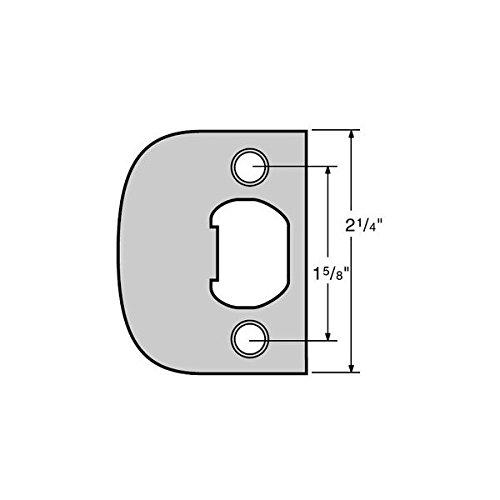 Decker Hardware (Kwikset / Stanley Black & Decker 20730617 Kwikset 83437 Full Lip Square Corner Strike Polished Brass)