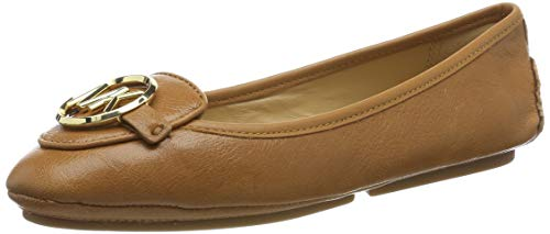 Michael Michael Kors Womens Lillie Leather Flat Moccasins