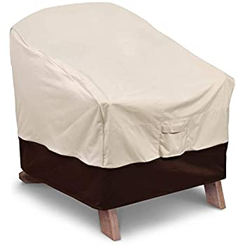 Exceptionnel Vailge Patio Adirondack Chair Covers, Heavy Duty Patio Chair Cover,  Waterproof Outdoor Lawn Patio Furniture Covers, 1 Pack, Beige U0026 Brown