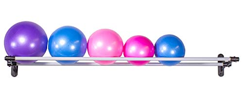 Vita Vibe Wall Storage Rack for Exercise/Yoga/Stability Balls - for Storing Ball Sizes 12cm to 36cm (5