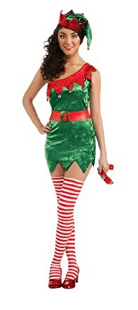 Secret Wishes Christmas Collection Elf Costume, Green, X-Small