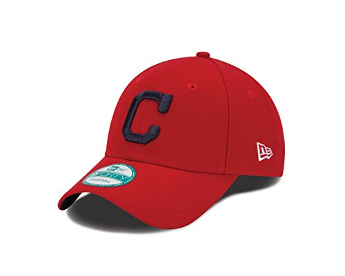 New Era MLB Cleveland Indians Alt The League 9FORTY Adjustable Cap, One Size, Red