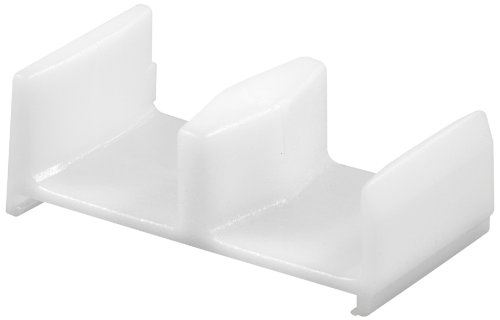 (Prime-Line Products 193088 Shower Door Botom Guide, White,(Pack of 2))