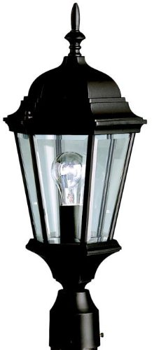 Post Cast Black Lantern - Kichler 9956BK, Madison Cast Aluminum Outdoor Post Lighting, 100 Total Watts, Black (Painted)