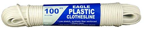 T.W Evans Cordage 775-050-05 Eagle Plastic Clothesline, 5/32-Inch x 100-Feet
