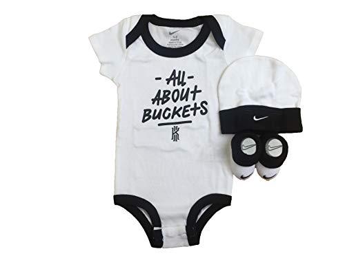 Nike Jordan Jumpman 3 Piece Infant Set (White(IBSPY0013)/Black/Black, 0-6 Months) (Infant 3 Jordan Set Piece)