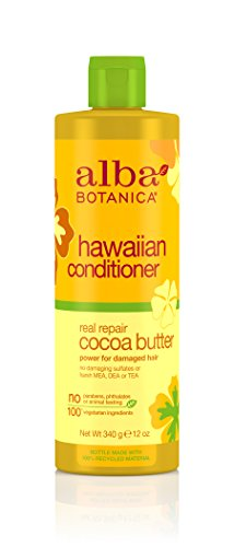 Alba Botanica Real Repair Cocoa Butter Hawaiian Conditioner, 12 oz.
