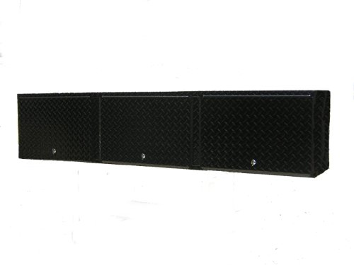 Pit Posse Aluminum Overhead Storage Shop Cabinet Race Car Enclosed Cargo Trailer Shelf Black