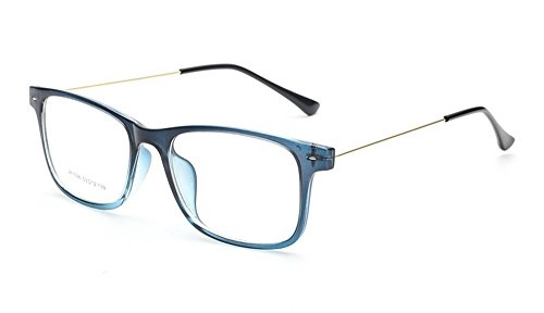 Flowertree Unisex S9352 Lightweight Super Thin Arm Wayfarer 52mm Glasses (Blue)