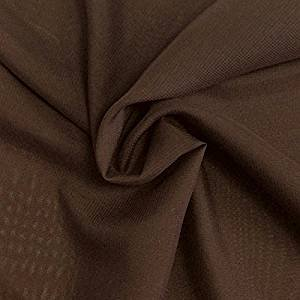 Solid Chiffon Fabric Polyester Dress Sheer 58'' Wide By the Yard All Colors (10 YARD, Brown)