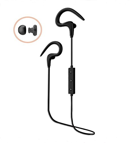 Acme Bluetooth Headphones ,Wireless Sports Earphones Stereo sound for Running Headset Sweatproof guarantee,Earbuds 7 hours play time Black. (Black) by gorsun