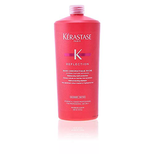 Kerastase Reflection Bain Chromatique Riche Multi-Protecting Shampoo for Unisex, 34 Ounce (Colour Conditioner Protecting)