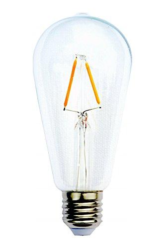 Bombilla LED 2W Alimaz Vintage Edison - Iluminación romántica. Diseño puro y elegante [Clase energética A ++ ]: Amazon.es: Iluminación