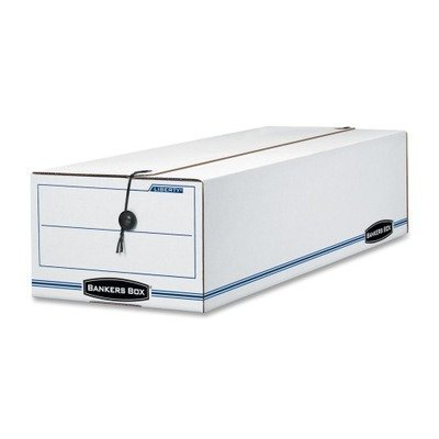 FELLOWES MANUFACTURING 22 Liberty Storage Box, Record Form, 9-1/2 x 23-1/4 x 6, White/Blue, 12/Carton by Fellowes