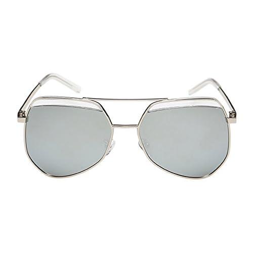 e7e4555e2c ... Mirror Lens Polarized Aviator Sunglasses hot sale. No.66 Town Unisex  Fashion Oversized UV400 Protection Silver Frame Silver-Films Reflective  Flash