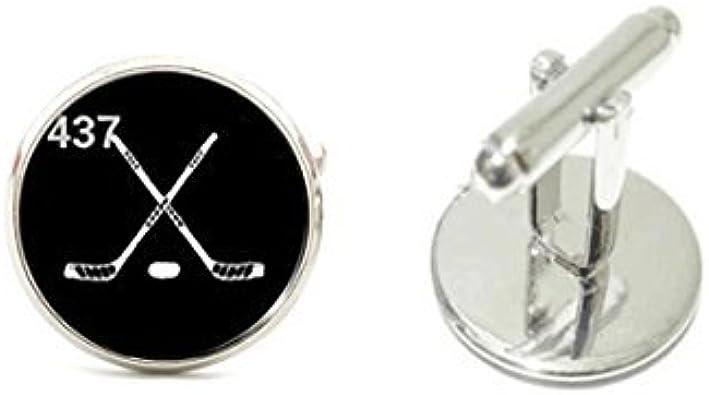 Gemelos de Hockey sobre hielo Hockey sobre gemelos plata camisa Gemelos para hombre de puño deportes: Amazon.es: Joyería