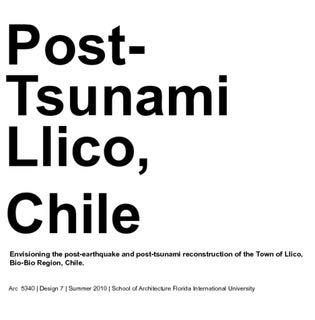 Post-Tsunami Llico, Chile - Design 7 - Andia (Miami International University Of Art & Design Miami)
