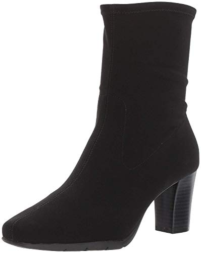 Aerosoles Women's Geneva 2 Mid Calf Boot, Black Fabric, 8 M US