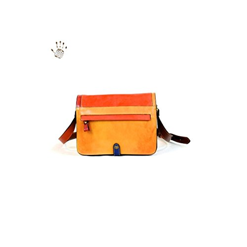 Made In Italy Vegetable Tanned Leather Bag For Women Color Multicolor Tuscan Leather   Prestige Line