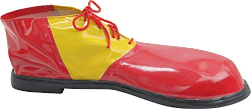 AMSCAN Red and Yellow Clown Shoes Deluxe Halloween Costume Accessories, One Size