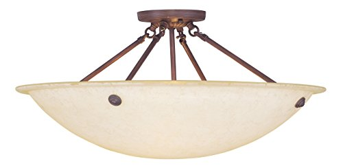 Livex Lighting 4275-58 Oasis 4-Light Ceiling Mount, Imperial Bronze ()
