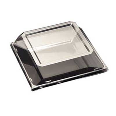 PET Dome Lid for Square 11 Inch Plates - Case of 120 by EMI Yoshi