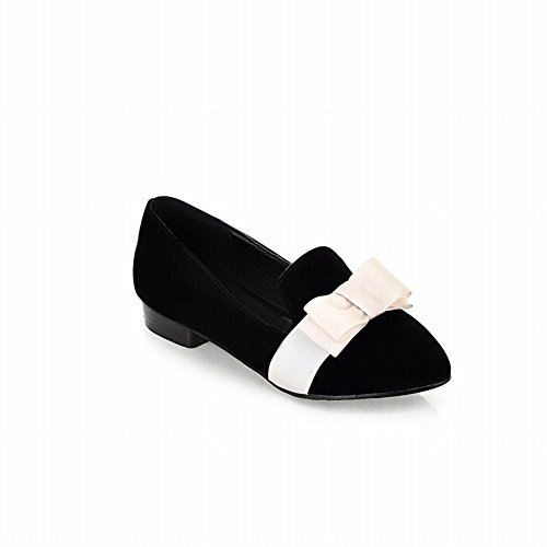 Elegant Ballet Women's Black Shoes Sweet Flats Concise Carol Bows pH4xfSYqEw