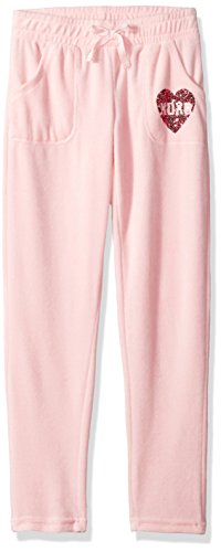 XOXO Big Girls' Velour Pant, Rose Quartz, 7/8 (Girls Velour Pants)