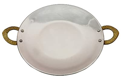 Indian Serveware Accessory Tava Platter for Serving Indian Bread or Chapattis Diameter 7 Inches