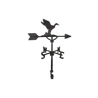 Montague Metal Products 32-Inch Weathervane Satin Black Duck Ornament -