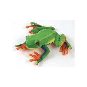 amazon com red eye tree frog 8 by fiesta toys games