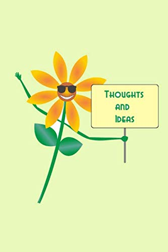 Thoughts and Ideas: A creativity journal to express yourself - blank lined pages - cute daisy cover ()