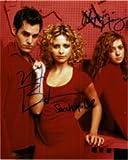 Signed Buffy The Vampire Slayer (Sarah Michelle Gellar / Alyson Hannigan / Nicholas Brendon) 8x10 Photo by Sarah Michelle Gellar, Alyson Hannigan and Nicholas Brendon autographed