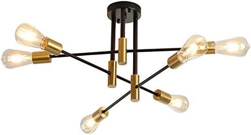 Mid-Century Pendant Lighting Adjustable Arm Sputnik Chandelier Modern Ceiling Light Fixture
