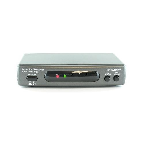 4x2 AUTO Switching Composite Video/Stereo Audio Switch SB-5420 ()
