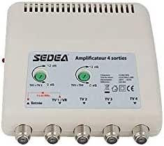 Sedea - Amplificador interior 11 dB ajustable 4 salidas ...