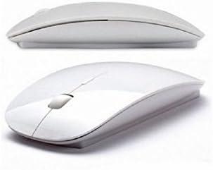 Souris sans fil optique - Bluetooth 2.4 - Dpi réglable + dongle Bluetooth USB - pour PC et MAC - Blanc