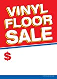 G60VFS Vinyl Floor Sale - Grommet Reinforced (Brass Ring) Sale Tags - 5'' x 7'' (100 Pack) Carpet and Flooring Store Price Cards 10pt Card Stock for Easy Writing