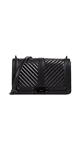 Minkoff Rebecca Chevron Love Black Quilted Crossbody qgH1nFg