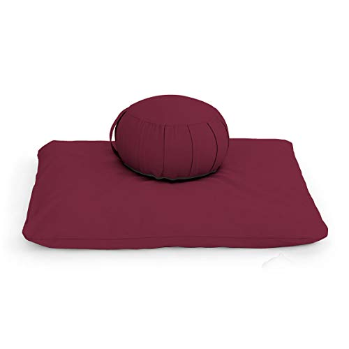 Zafu Meditation Cushion Set - Kapok - 5 Colors - Zippered, Removable, Machine Washable Covers - Made in Vermont
