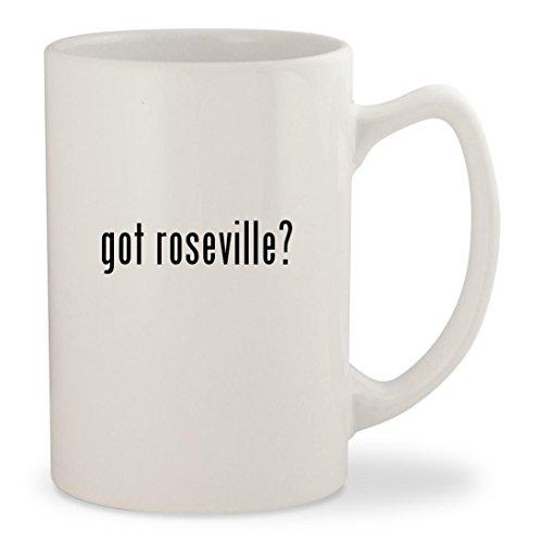 got roseville? - White 14oz Ceramic Statesman Coffee Mug Cup