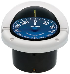 Ritchie Navigation SS-1002W Supersport Flush Mount Compass, White with Blue Dial, 3-3/4-Inch by Ritchie