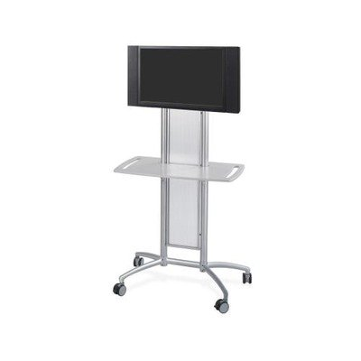 Safco Products 8926GR Impromptu Flat Panel TV Cart, Metallic Gray by Safco Products
