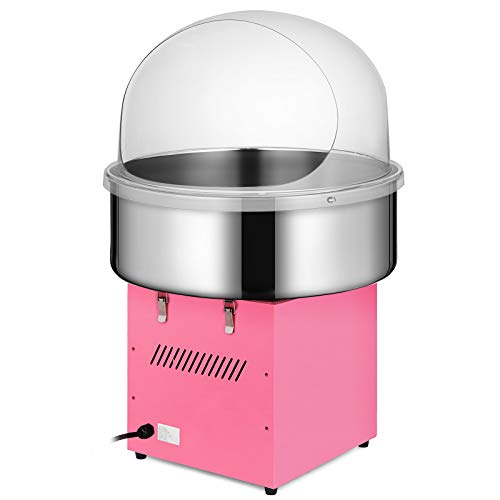 Happybuy Electric Candy Floss Maker With Cover 20.5 Inch Cotton Candy Machine 1030W for Various Parties (Cotton Candy Machine with cover) by Happybuy (Image #3)